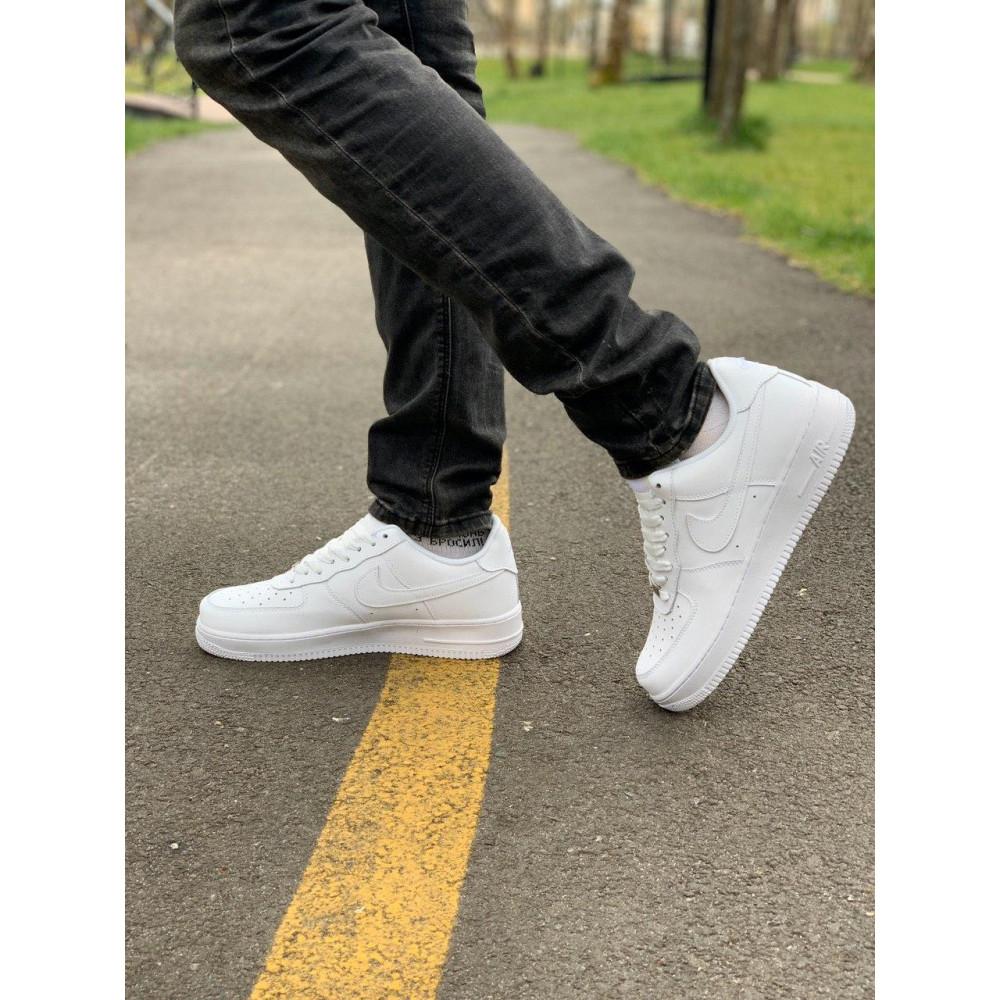 Демисезонные кроссовки мужские   - Кроссовки белые низкие натуральная кожа Nike Air Force Найк Аир Форс (43,44,45) 5