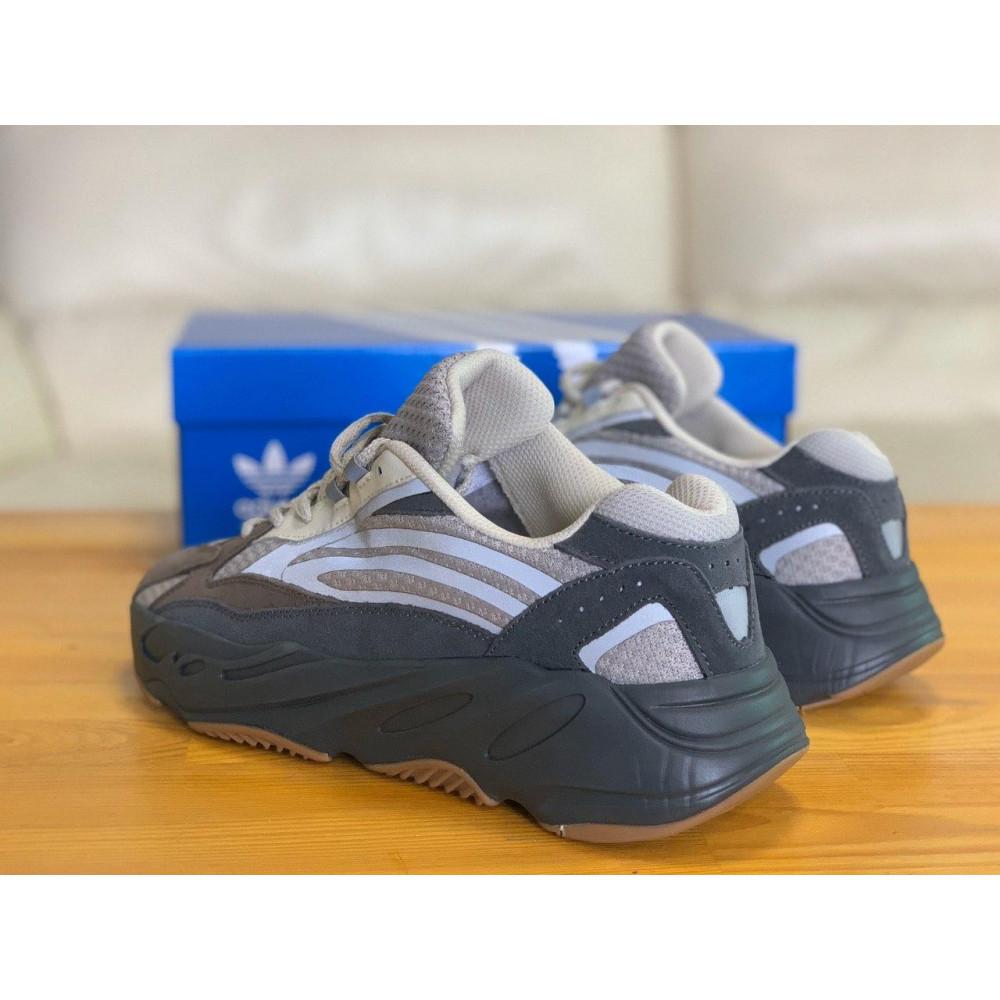 Демисезонные кроссовки мужские   - Кроссовки натуральная кожа Adidas Yeezy Boost 700 Адидас Изи Буст (41,42,43,44,45) 1