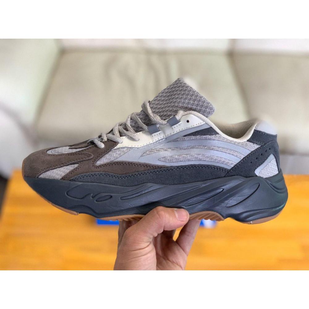 Демисезонные кроссовки мужские   - Кроссовки натуральная кожа Adidas Yeezy Boost 700 Адидас Изи Буст (41,42,43,44,45) 2