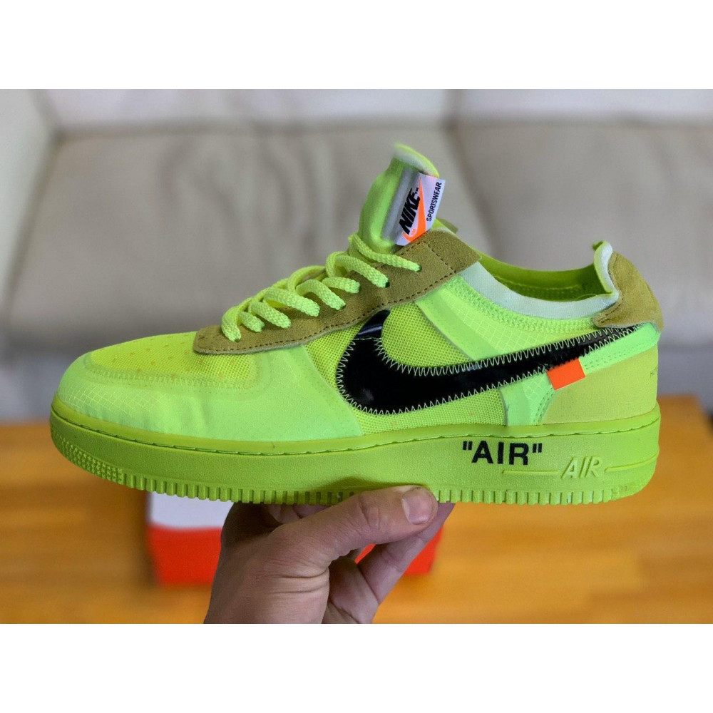 Летние кроссовки мужские - Кроссовки Nike Air Force Off-White Найк Еир Форс Оф Вайт   (41,42,43,44,45) 2