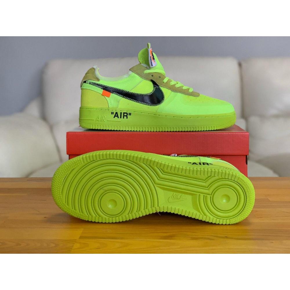 Летние кроссовки мужские - Кроссовки Nike Air Force Off-White Найк Еир Форс Оф Вайт   (41,42,43,44,45) 4