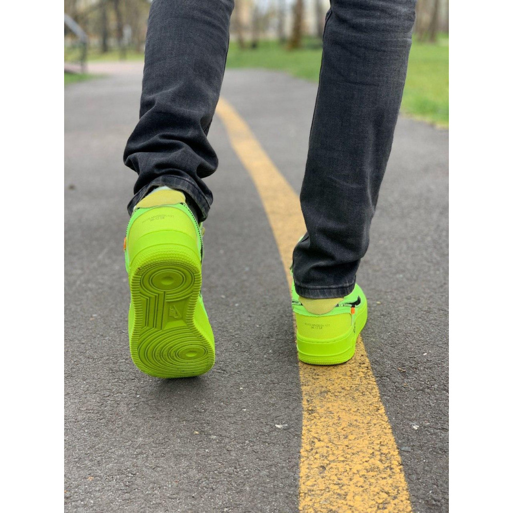 Летние кроссовки мужские - Кроссовки Nike Air Force Off-White Найк Еир Форс Оф Вайт   (41,42,43,44,45) 6