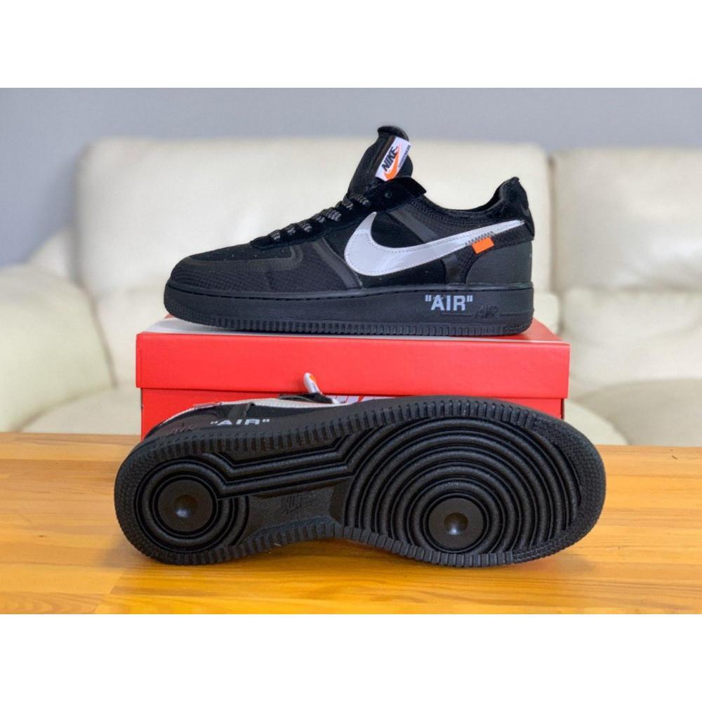 Демисезонные кроссовки мужские   - Кроссовки Nike Air Force Off-White Найк Еир Форс Оф Вайт   (41,42,43,44,45) 6