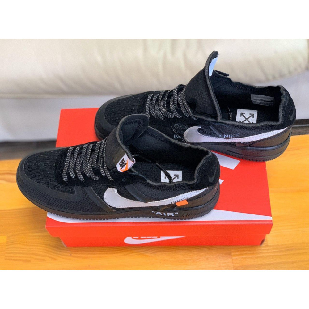 Демисезонные кроссовки мужские   - Кроссовки Nike Air Force Off-White Найк Еир Форс Оф Вайт   (41,42,43,44,45) 3