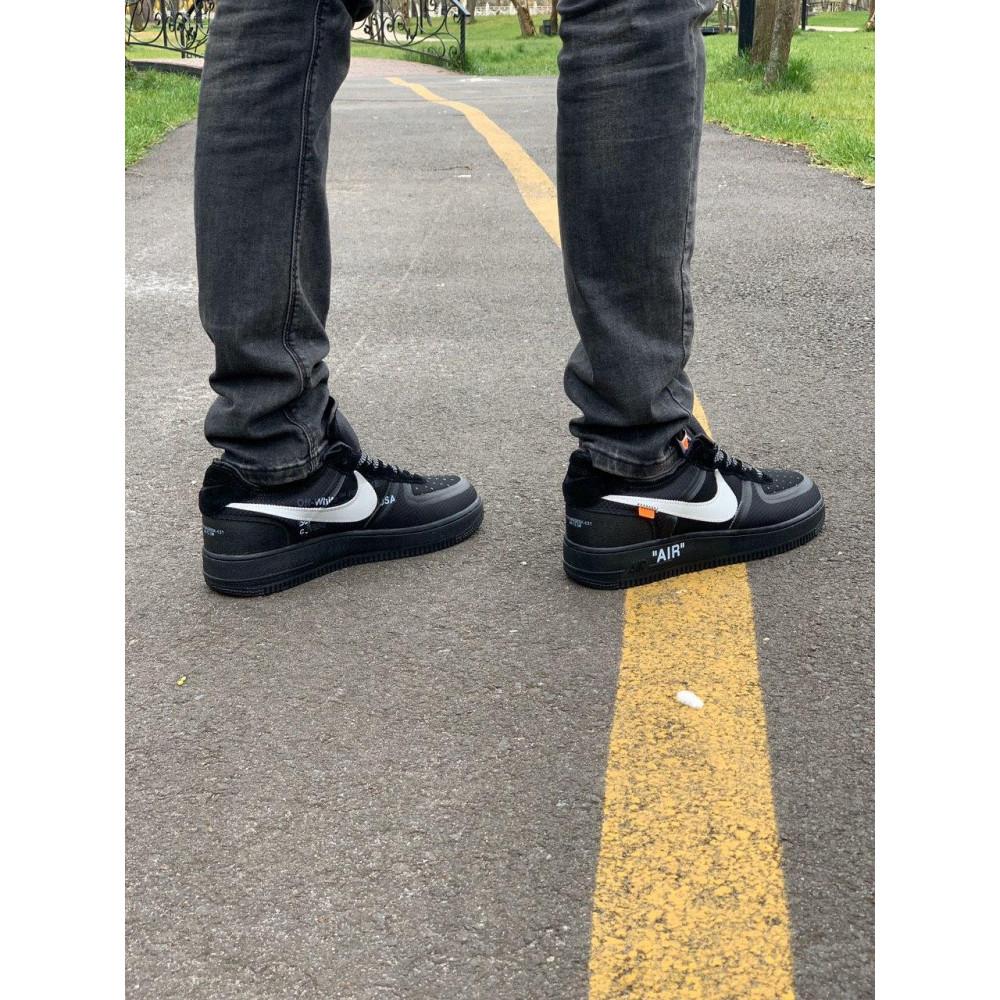 Демисезонные кроссовки мужские   - Кроссовки Nike Air Force Off-White Найк Еир Форс Оф Вайт   (41,42,43,44,45) 4