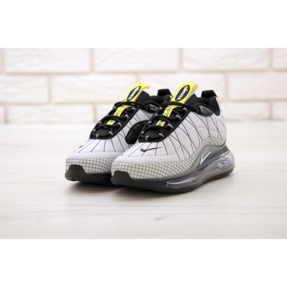 Беговые кроссовки мужские  - Мужские кроссовки Nike Air Max 720 818 в сером цвете 3