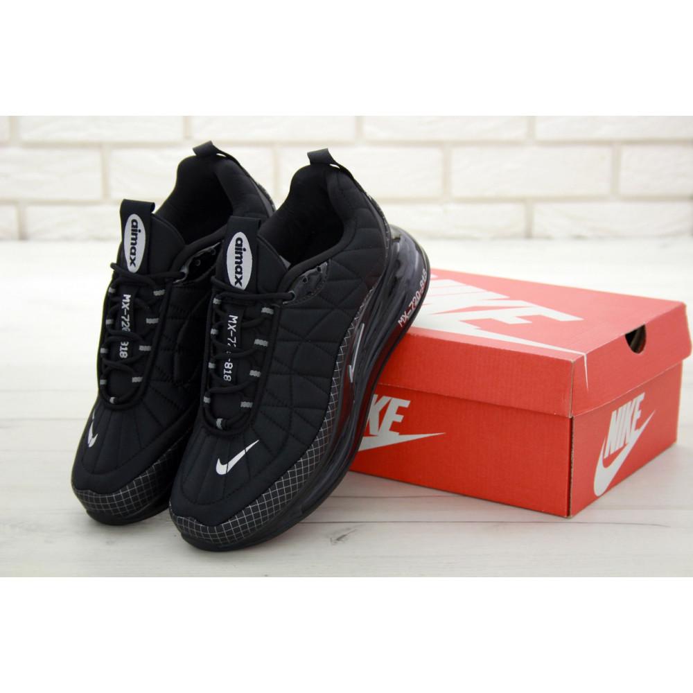 Демисезонные кроссовки мужские   - Кроссовки Nike Air Max 720 818 в черном цвете