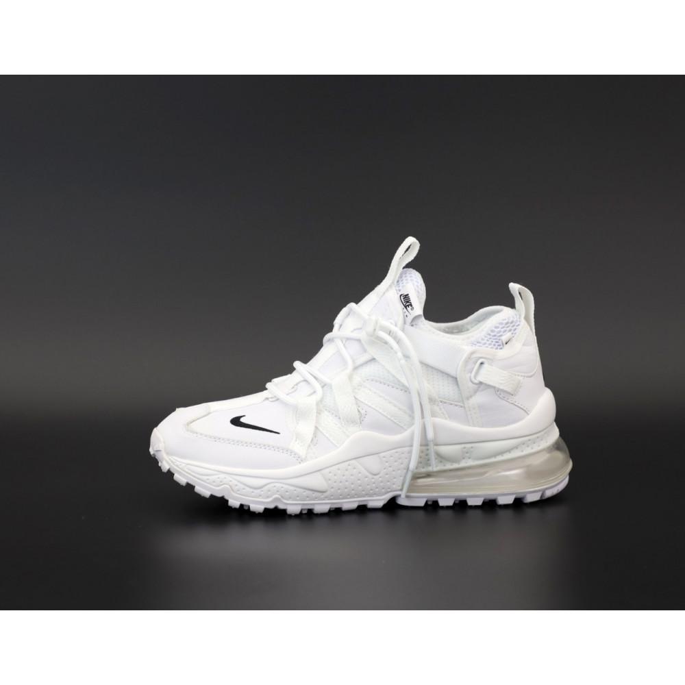 Демисезонные кроссовки мужские   - Кроссовки Nike Air Max 270 Bowfin белого цвета 1