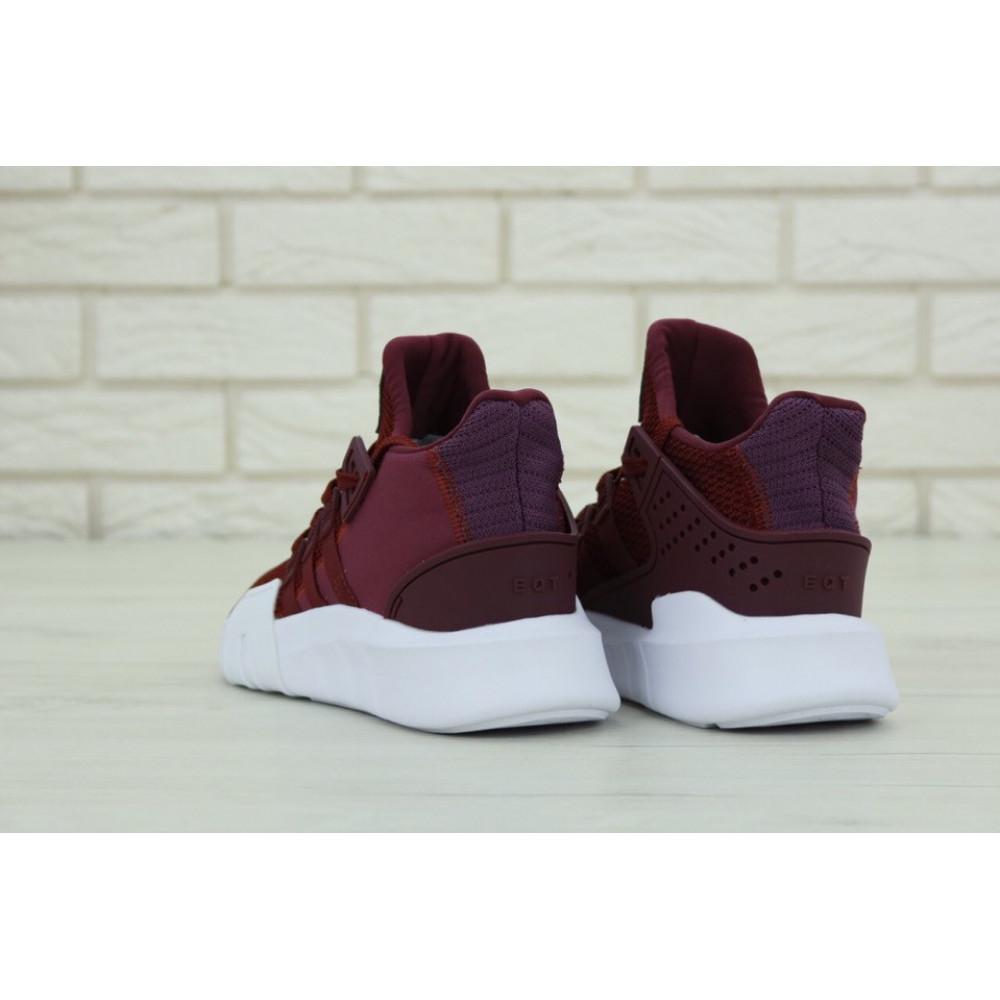 Беговые кроссовки мужские  - Мужские кроссовки Adidas EQT Support Bordo (Адидас Саппорт) бордового цвета 3