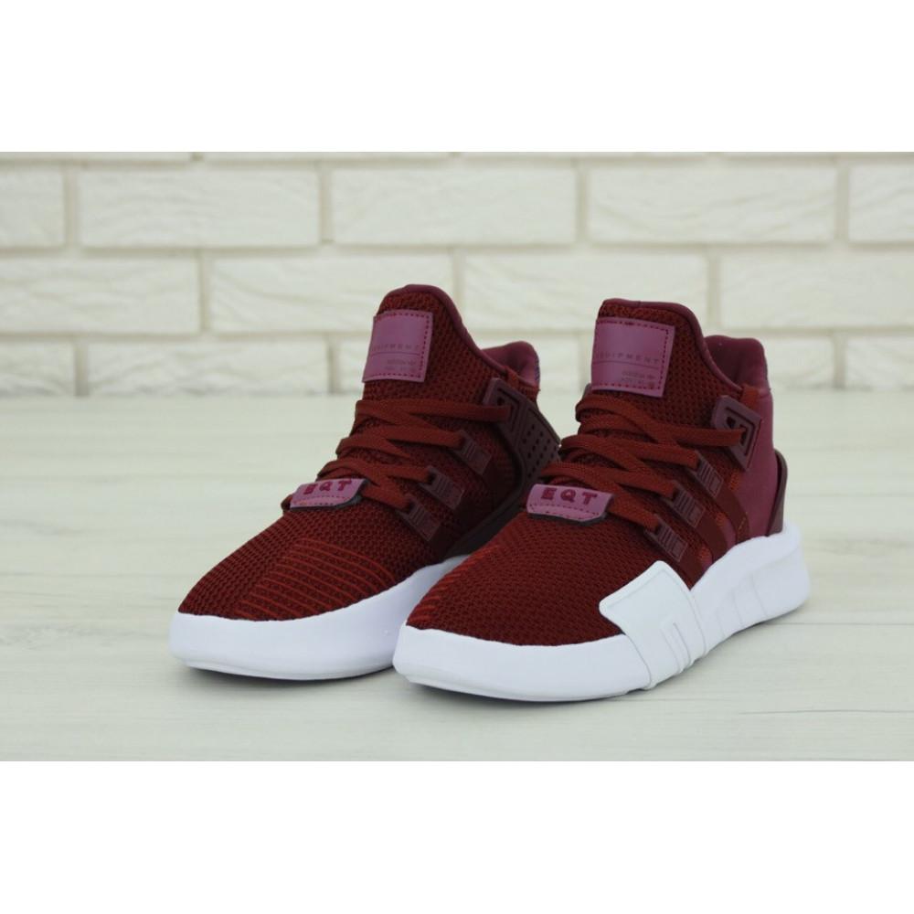Беговые кроссовки мужские  - Мужские кроссовки Adidas EQT Support Bordo (Адидас Саппорт) бордового цвета 2