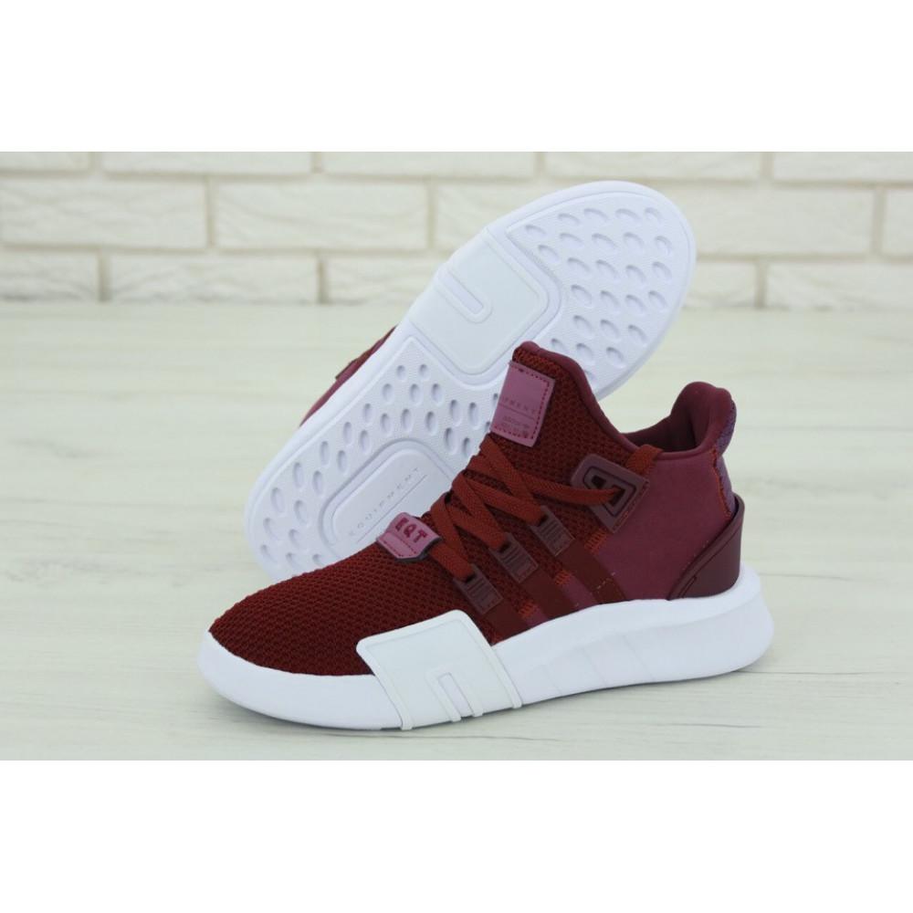 Беговые кроссовки мужские  - Мужские кроссовки Adidas EQT Support Bordo (Адидас Саппорт) бордового цвета 1