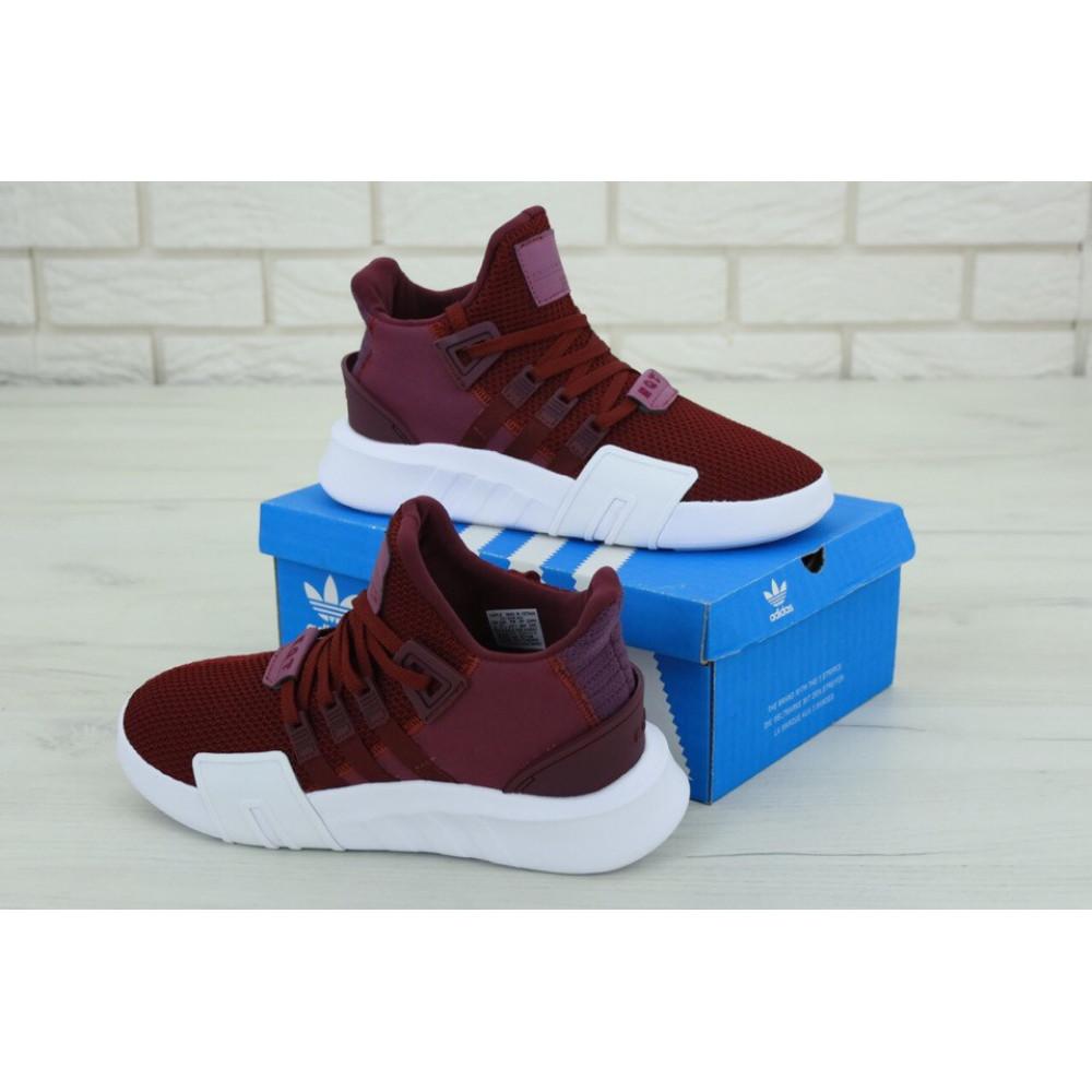 Беговые кроссовки мужские  - Мужские кроссовки Adidas EQT Support Bordo (Адидас Саппорт) бордового цвета 4