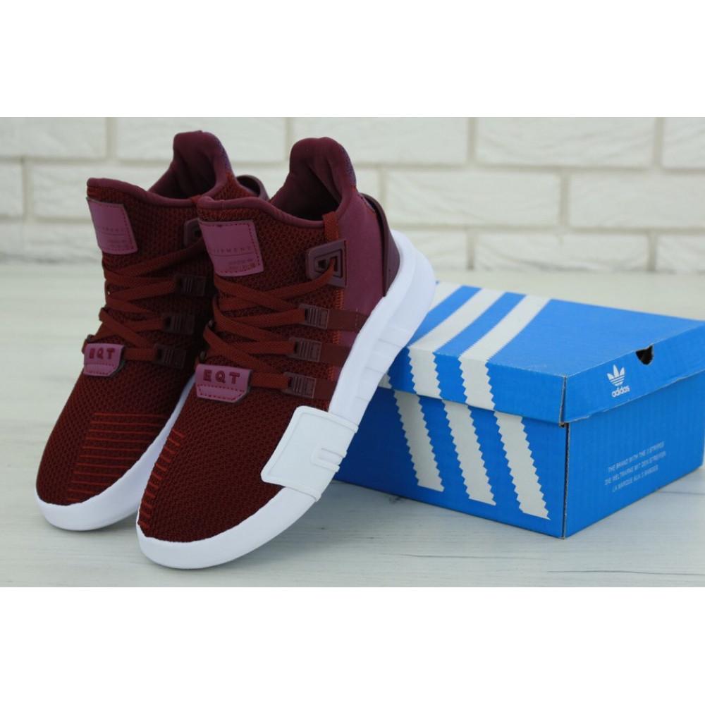 Беговые кроссовки мужские  - Мужские кроссовки Adidas EQT Support Bordo (Адидас Саппорт) бордового цвета