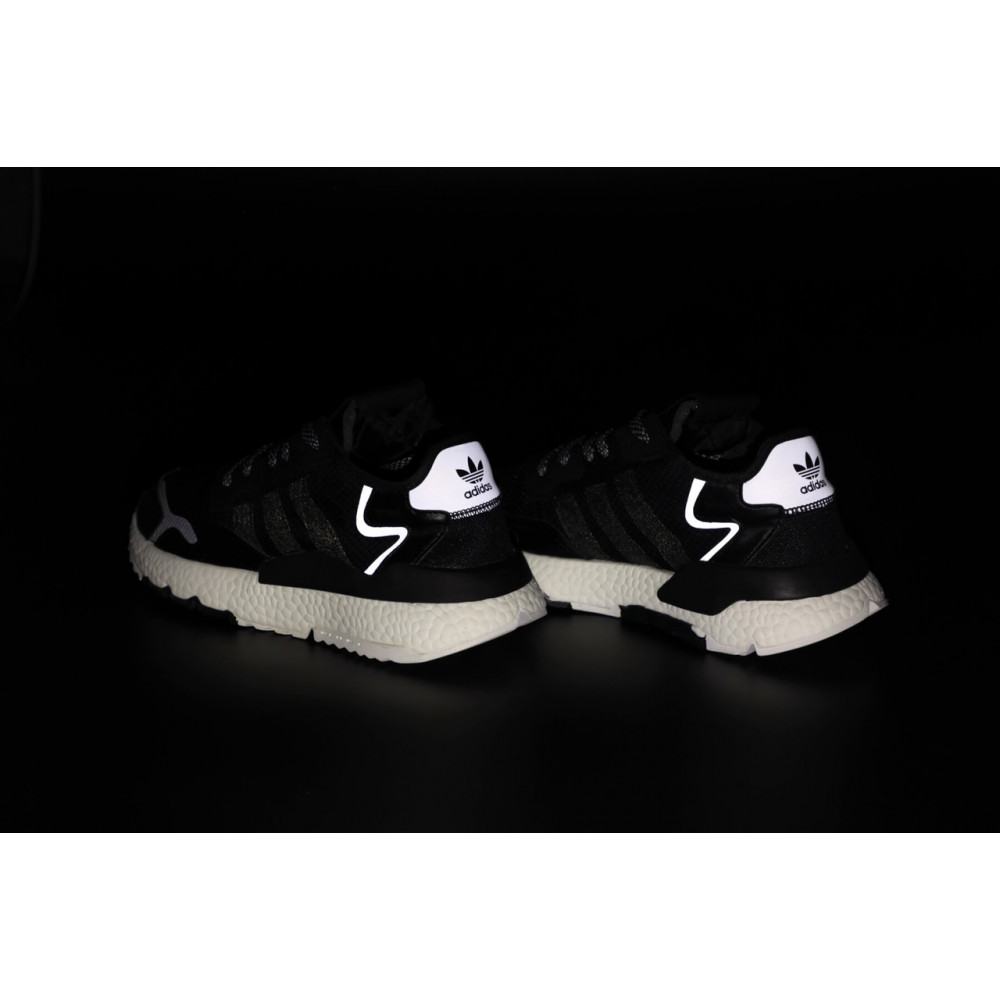 Демисезонные кроссовки мужские   - Мужские кроссовки Adidas Nite Jogger в черном цвете 7
