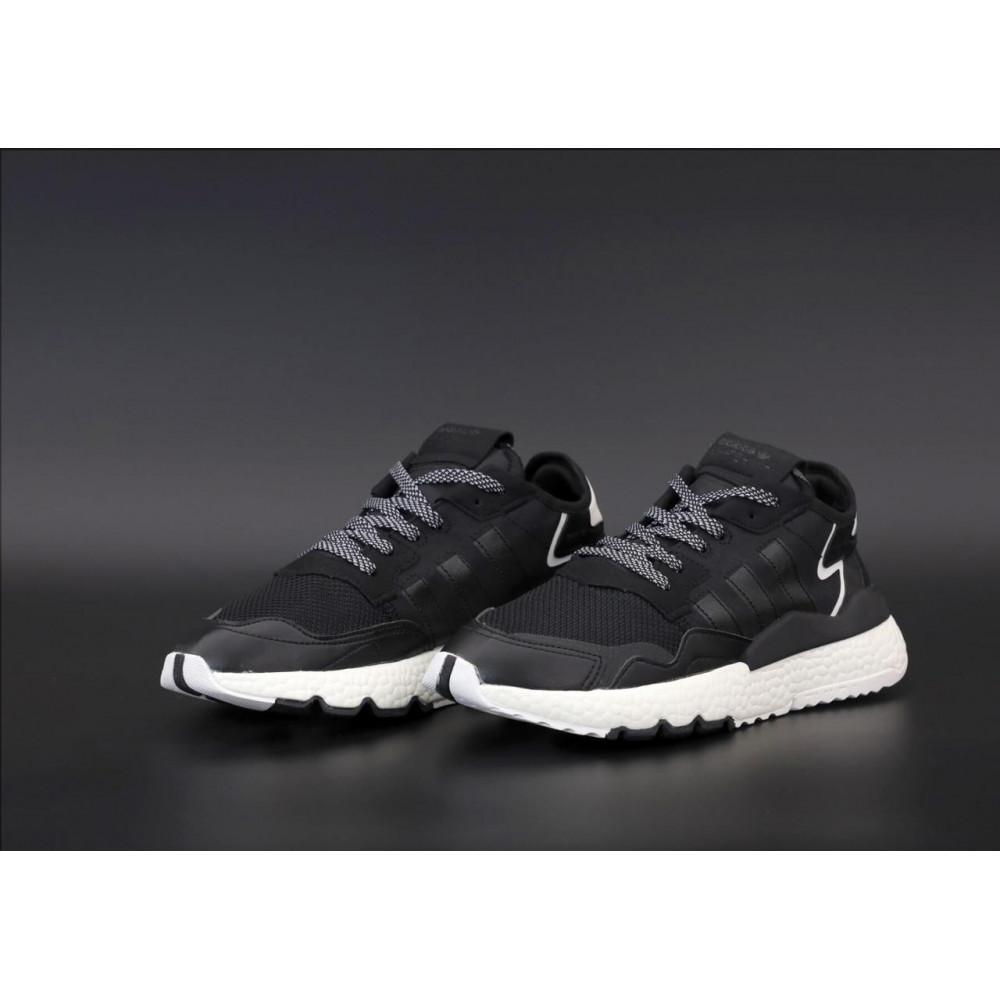 Демисезонные кроссовки мужские   - Мужские кроссовки Adidas Nite Jogger в черном цвете 3