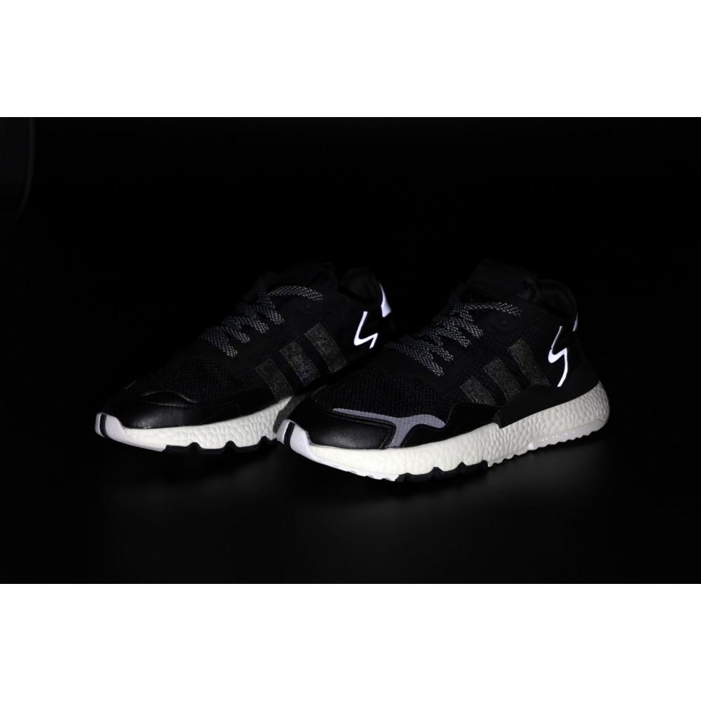 Демисезонные кроссовки мужские   - Мужские кроссовки Adidas Nite Jogger в черном цвете 6