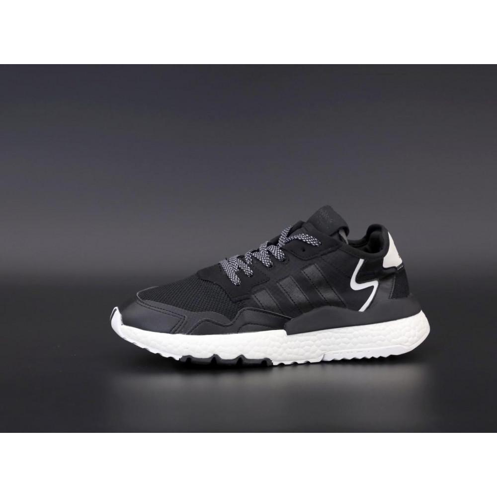 Демисезонные кроссовки мужские   - Мужские кроссовки Adidas Nite Jogger в черном цвете 2