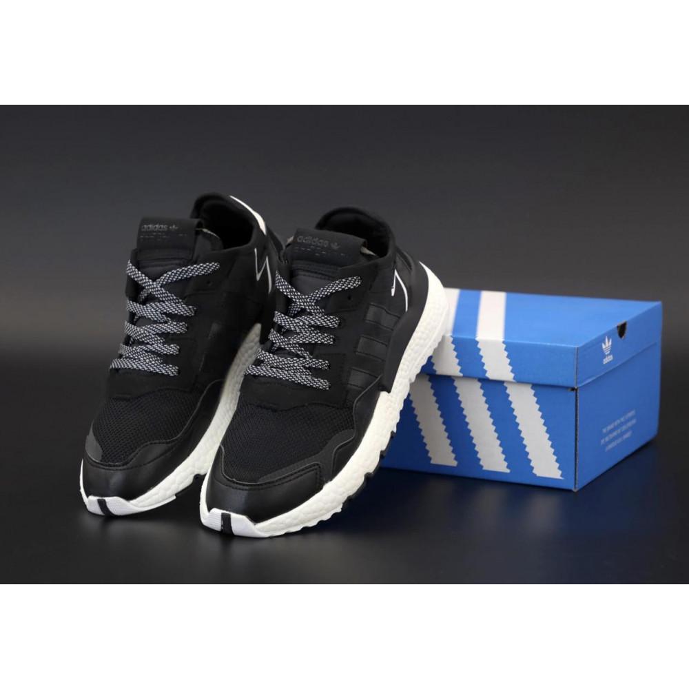 Демисезонные кроссовки мужские   - Мужские кроссовки Adidas Nite Jogger в черном цвете