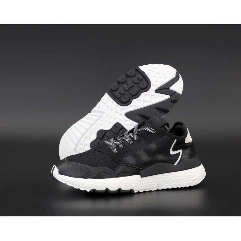 Демисезонные кроссовки мужские   - Мужские кроссовки Adidas Nite Jogger в черном цвете 1