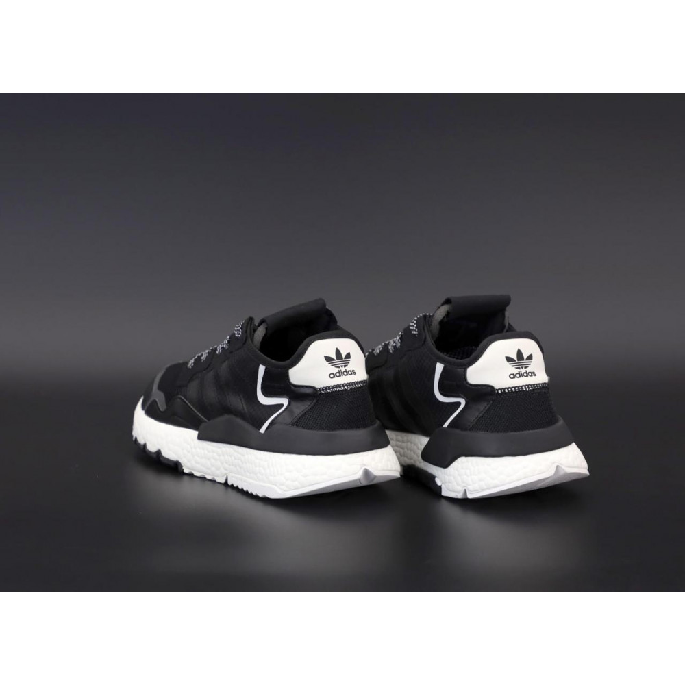 Демисезонные кроссовки мужские   - Мужские кроссовки Adidas Nite Jogger в черном цвете 4