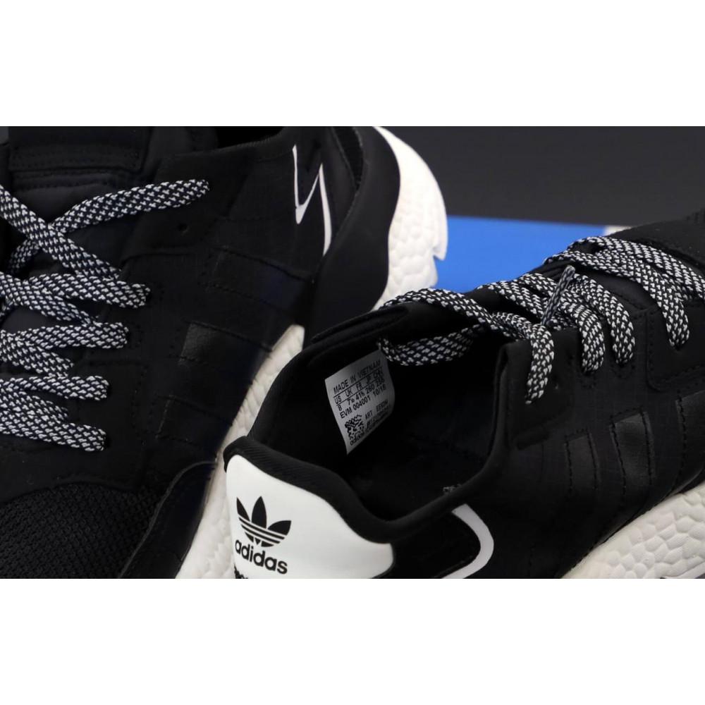 Демисезонные кроссовки мужские   - Мужские кроссовки Adidas Nite Jogger в черном цвете 5