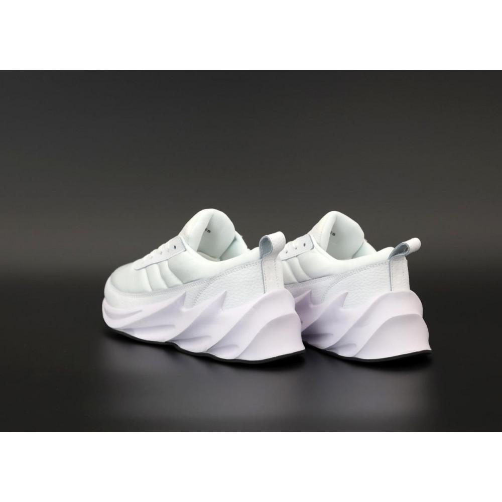 Демисезонные кроссовки мужские   - Белые кроссовки Адидас Шаркс женские и мужские 4