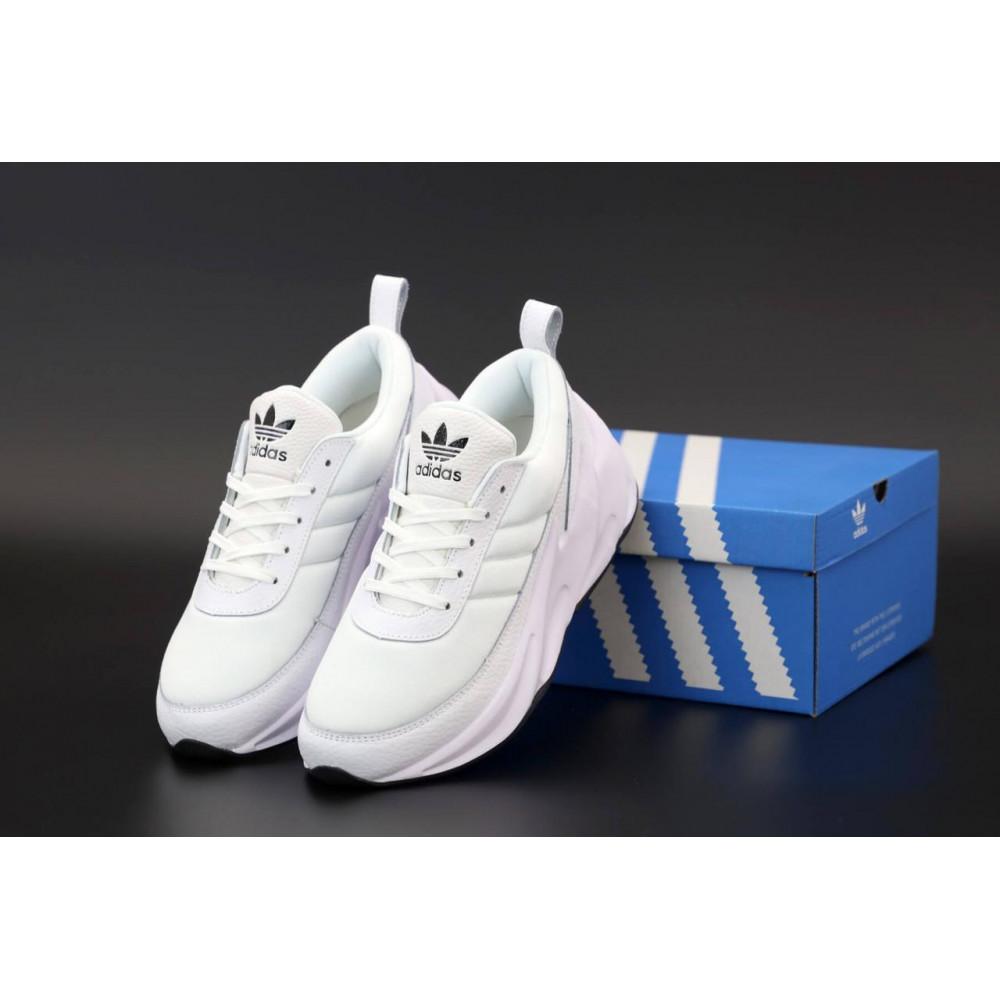 Демисезонные кроссовки мужские   - Белые кроссовки Адидас Шаркс женские и мужские