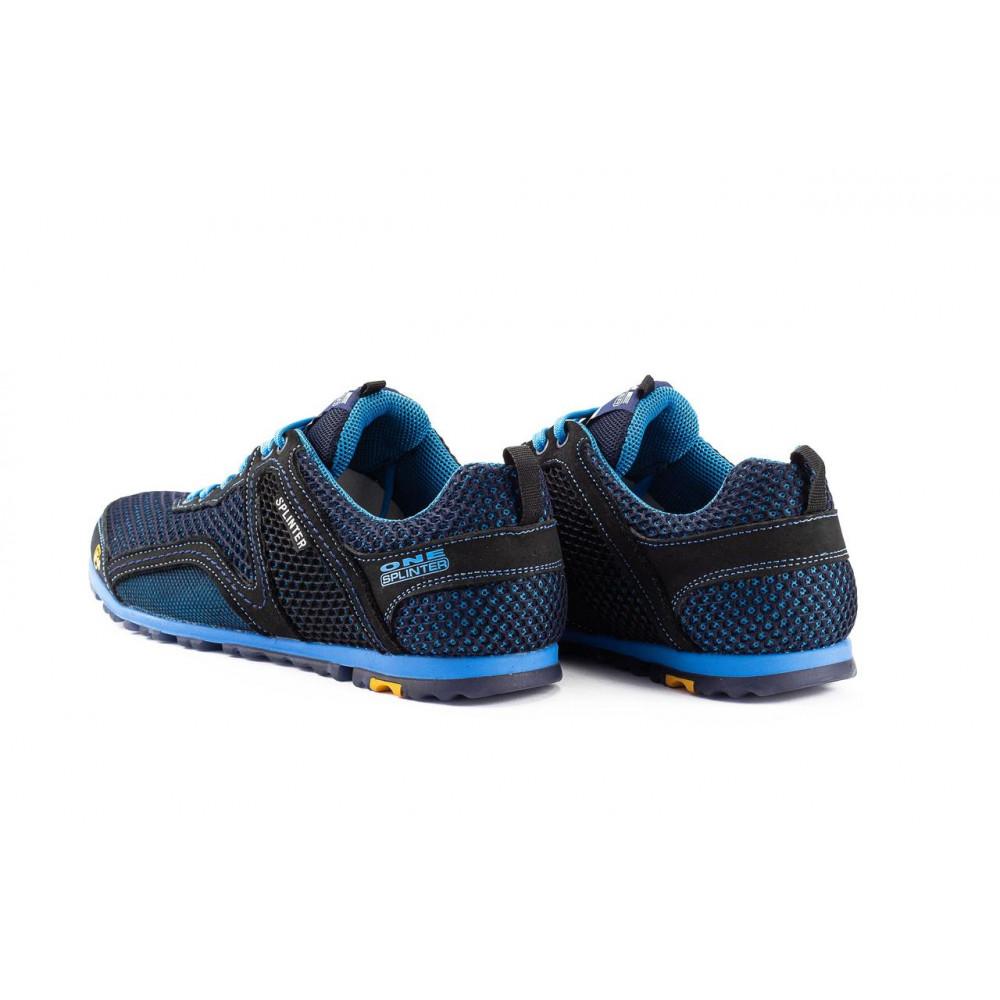 Кроссовки - Мужские кроссовки текстильные летние синие-черные Splinter Relaxed 3715 5
