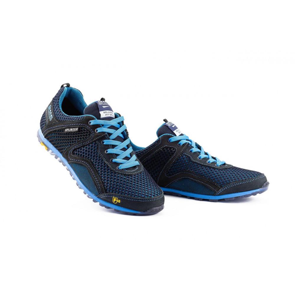 Кроссовки - Мужские кроссовки текстильные летние синие-черные Splinter Relaxed 3715 3