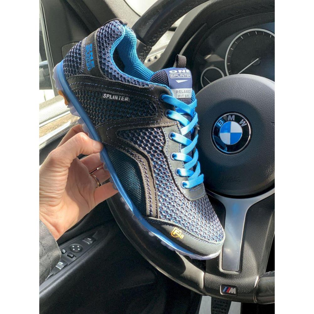 Кроссовки - Мужские кроссовки текстильные летние синие-черные Splinter Relaxed 3715 2