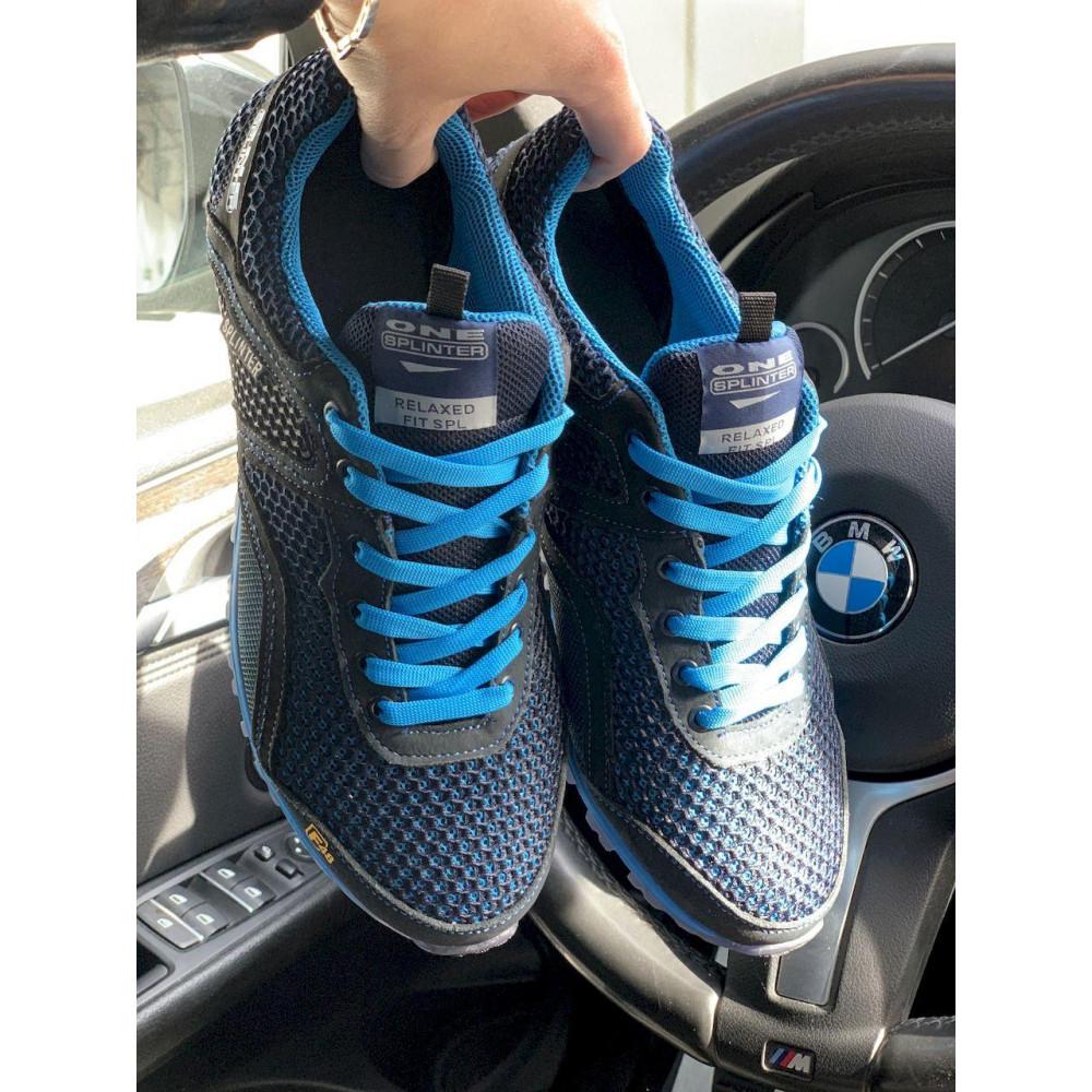 Кроссовки - Мужские кроссовки текстильные летние синие-черные Splinter Relaxed 3715 1