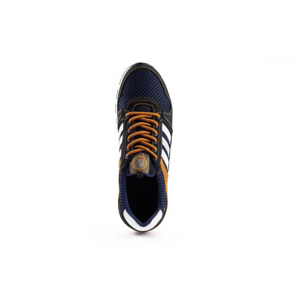 Летние кроссовки мужские - Мужские кроссовки текстильные летние синие-коричневые Splinter 3614 7