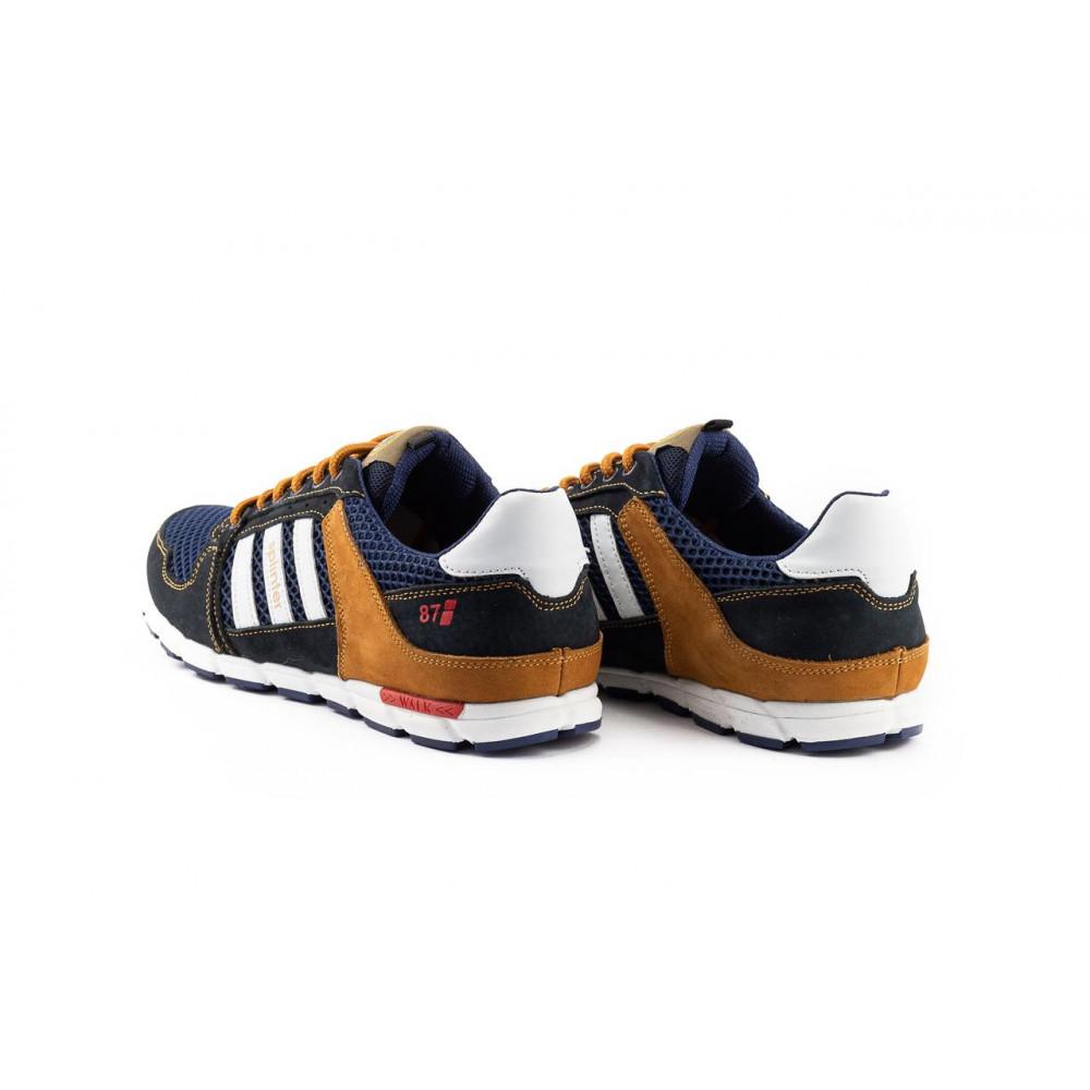 Летние кроссовки мужские - Мужские кроссовки текстильные летние синие-коричневые Splinter 3614 6