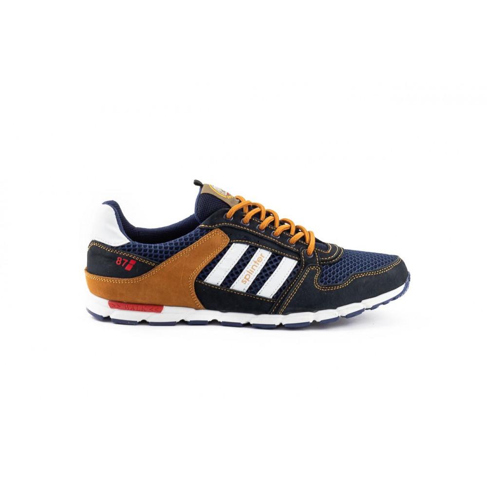 Летние кроссовки мужские - Мужские кроссовки текстильные летние синие-коричневые Splinter 3614 5