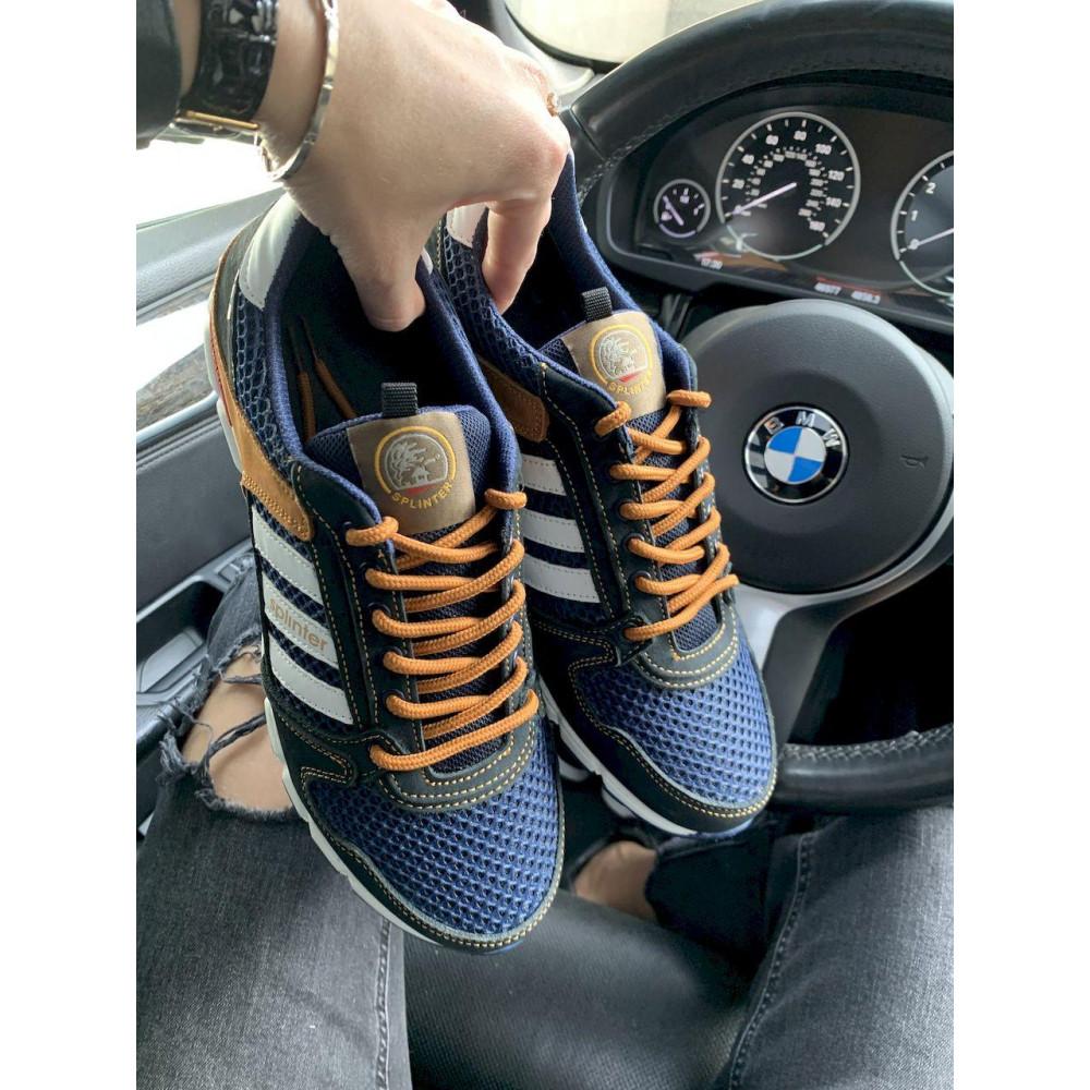 Летние кроссовки мужские - Мужские кроссовки текстильные летние синие-коричневые Splinter 3614 2