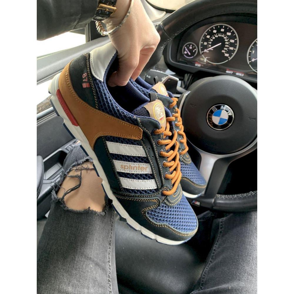 Летние кроссовки мужские - Мужские кроссовки текстильные летние синие-коричневые Splinter 3614 1