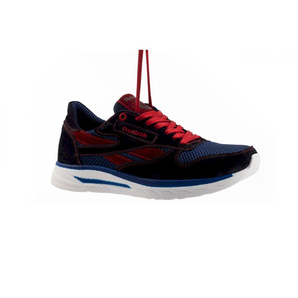 Летние кроссовки мужские - Мужские кроссовки текстильные летние синие-красные Lions R16-сет-с-кр