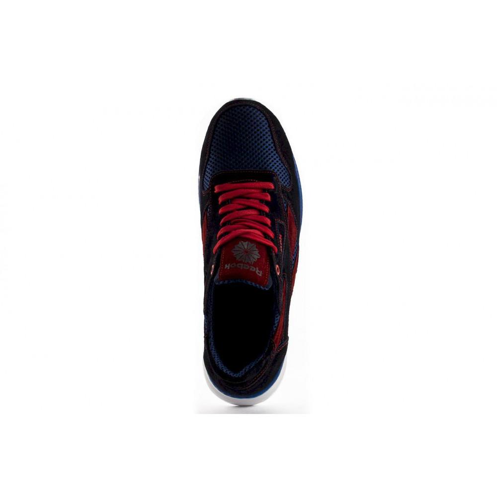 Летние кроссовки мужские - Мужские кроссовки текстильные летние синие-красные Lions R16-сет-с-кр 4