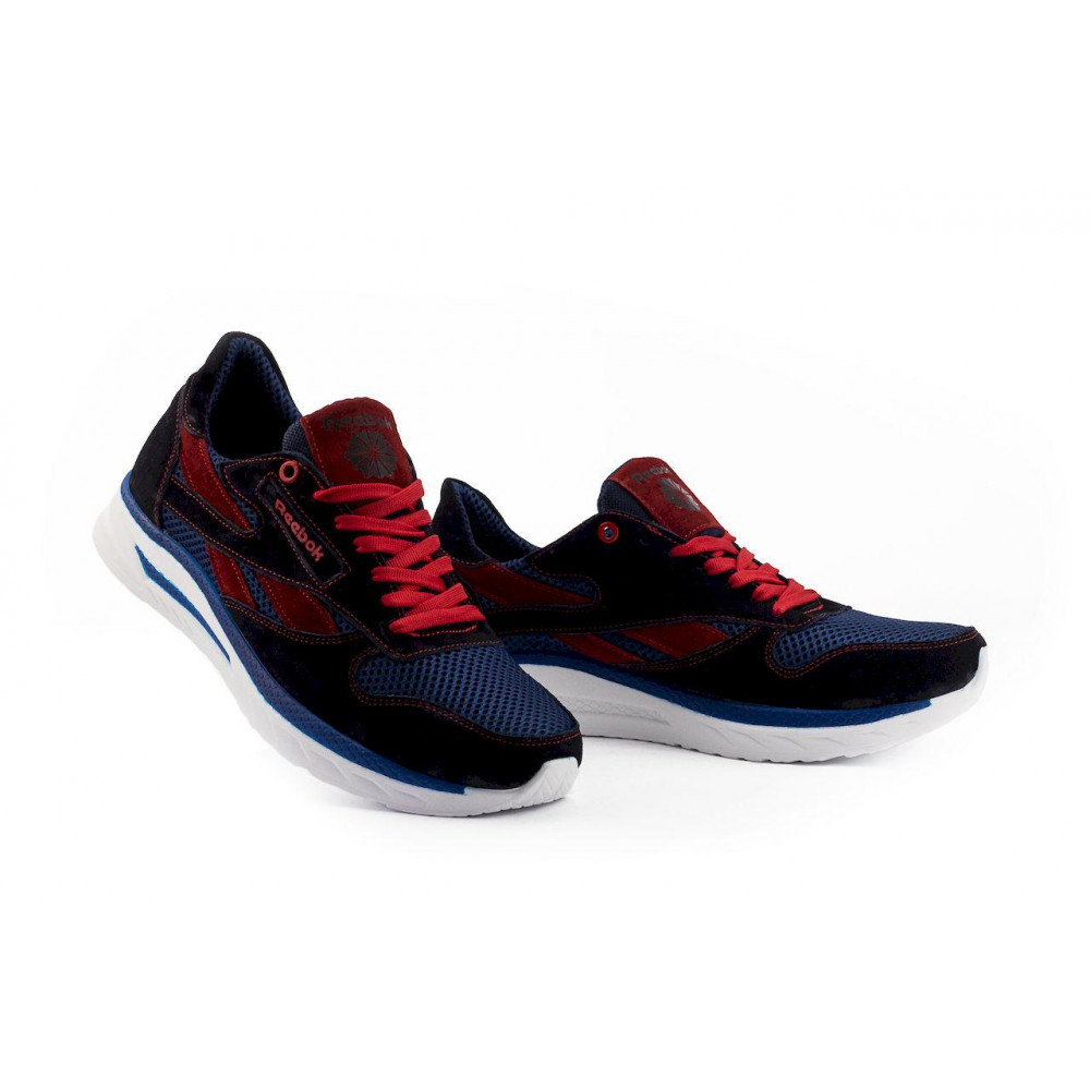 Летние кроссовки мужские - Мужские кроссовки текстильные летние синие-красные Lions R16-сет-с-кр 1