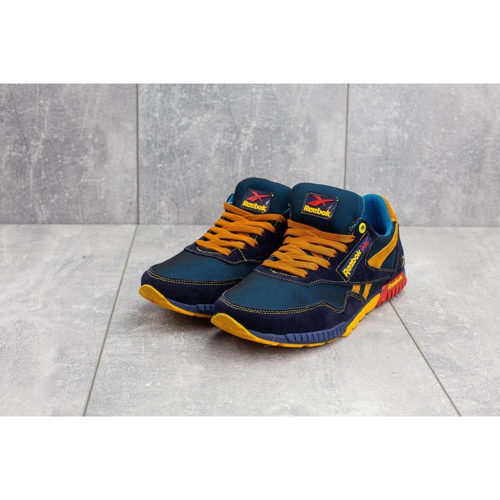Летние кроссовки мужские - Мужские кроссовки текстильные летние синие-рыжие CrosSAV 18 4