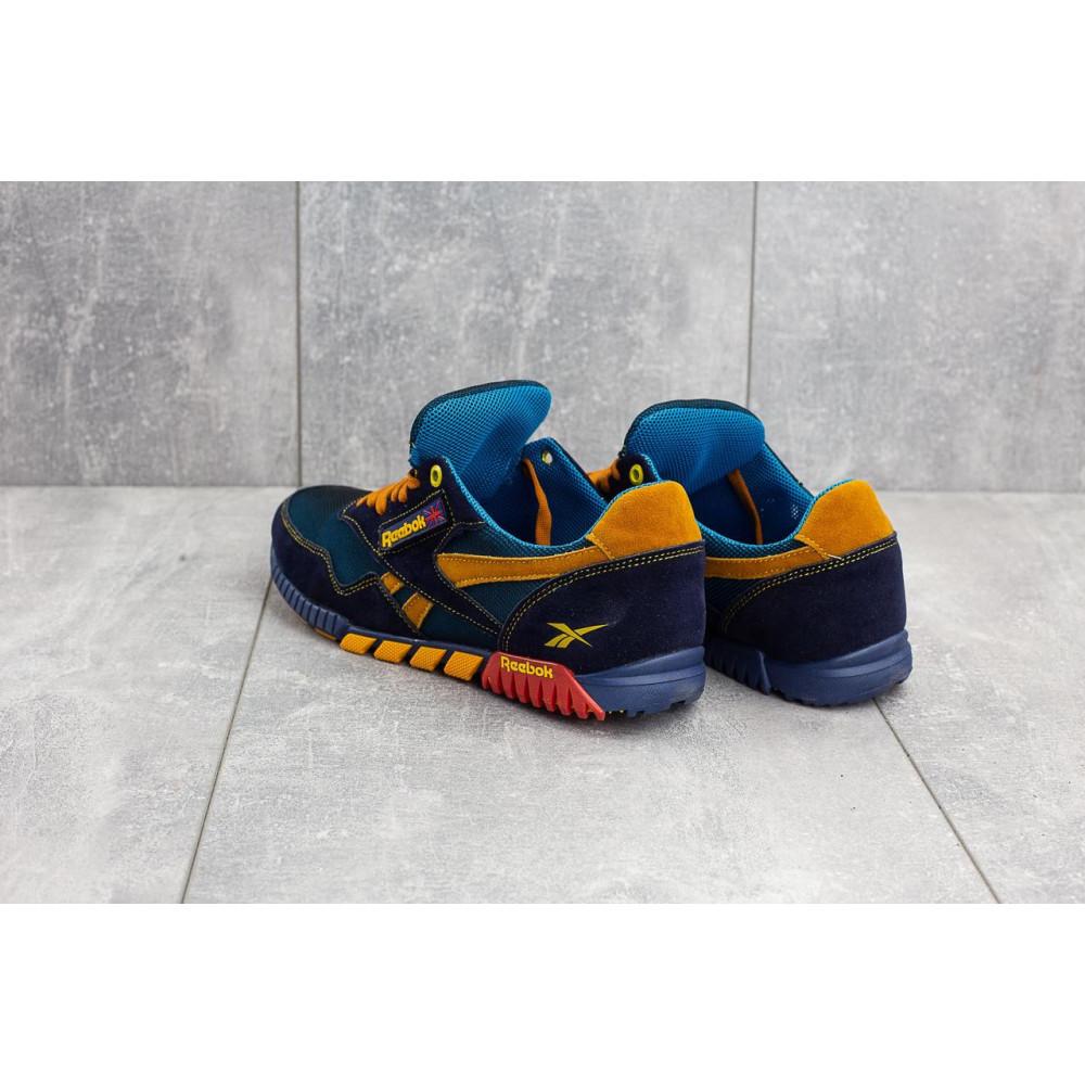 Летние кроссовки мужские - Мужские кроссовки текстильные летние синие-рыжие CrosSAV 18 8
