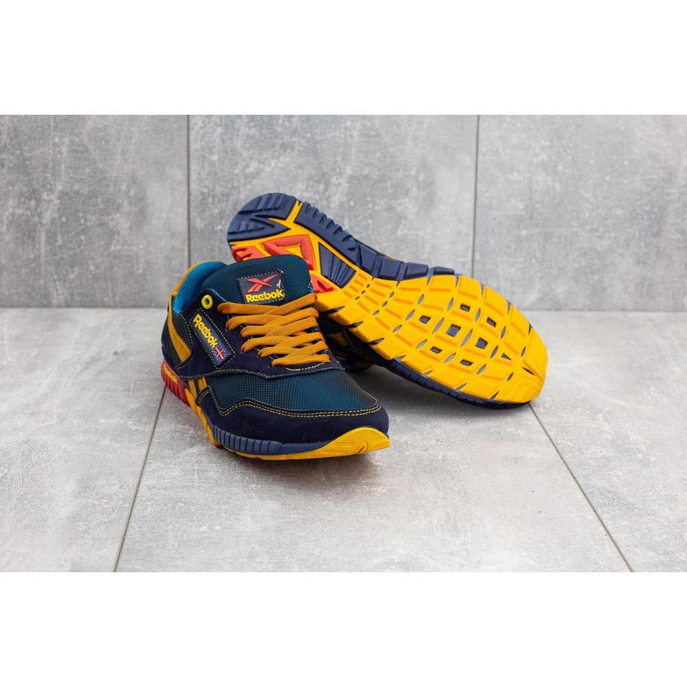Летние кроссовки мужские - Мужские кроссовки текстильные летние синие-рыжие CrosSAV 18 7
