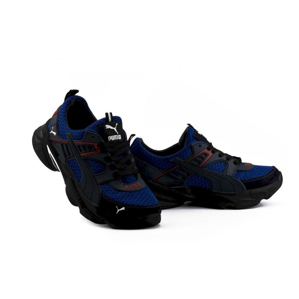 Летние кроссовки мужские - Мужские кроссовки текстильные летние синие Anser P5 с
