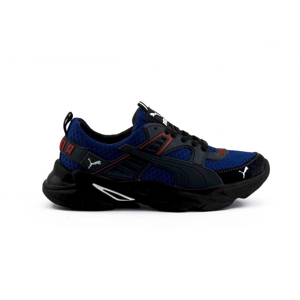 Летние кроссовки мужские - Мужские кроссовки текстильные летние синие Anser P5 с 7