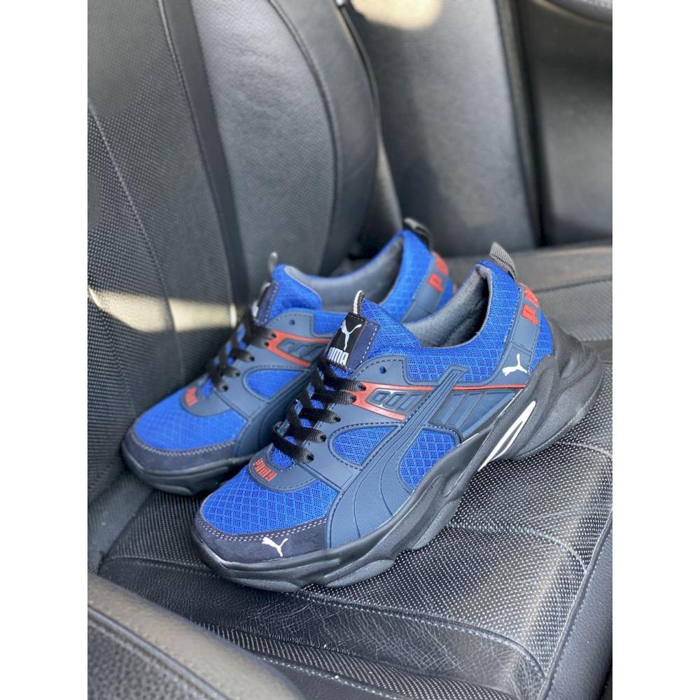 Летние кроссовки мужские - Мужские кроссовки текстильные летние синие Anser P5 с 4
