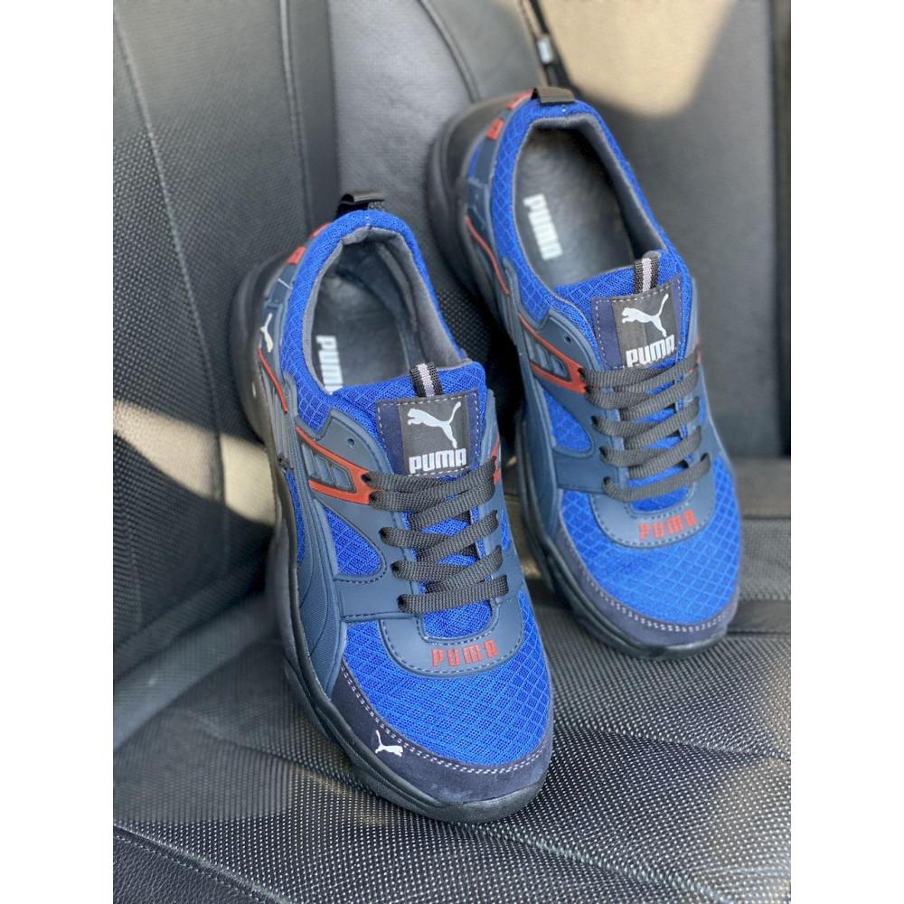 Летние кроссовки мужские - Мужские кроссовки текстильные летние синие Anser P5 с 3