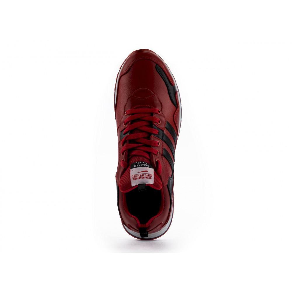 Демисезонные кроссовки мужские   - Мужские кроссовки кожаные весна/осень красные Splinter Terrex 1919 9