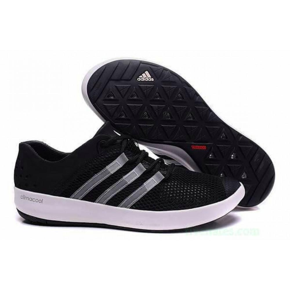 Беговые кроссовки мужские  - Кроссовки Adidas Climacool Boat Pure Black
