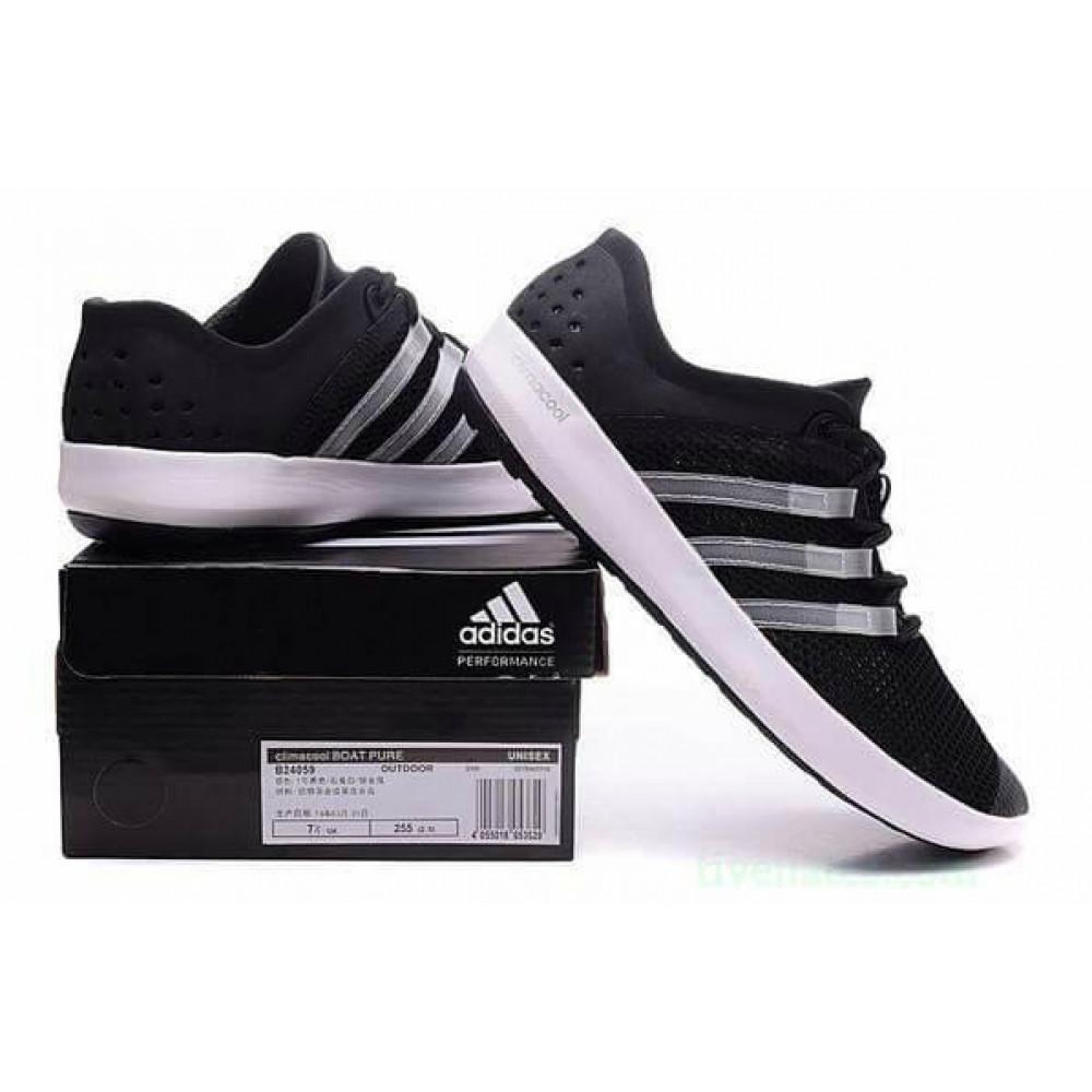 Беговые кроссовки мужские  - Кроссовки Adidas Climacool Boat Pure Black 3