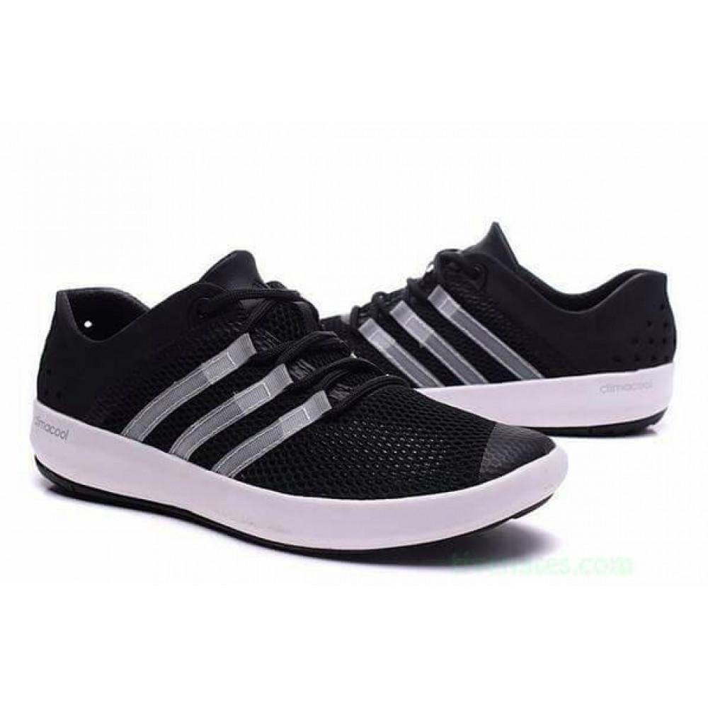 Беговые кроссовки мужские  - Кроссовки Adidas Climacool Boat Pure Black 1